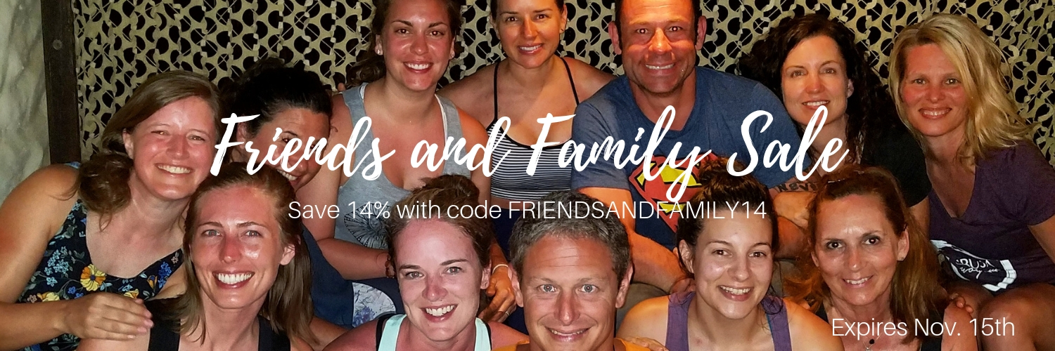 friends and family yoga retreat sale